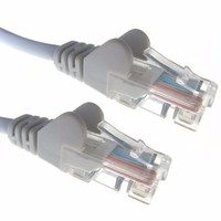 Grey RJ45 Cat5e High Quality 24AWG Stranded Snagless UTP Ethernet Network LAN Patch Cable by Zexum