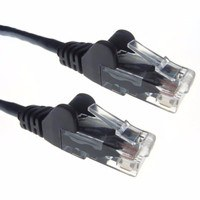 Zexum Black RJ45 Cat5e High Quality 24AWG Stranded Snagless UTP Ethernet Network LAN Patch Cable