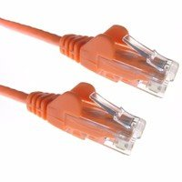 Zexum Orange RJ45 Cat5e High Quality 24AWG Stranded Snagless UTP Ethernet Network LAN Patch Cable
