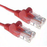 Zexum Red RJ45 Cat5e High Quality 24AWG Stranded Snagless UTP Ethernet Network LAN Patch Cable