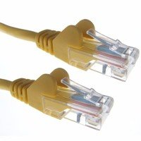 Zexum Yellow RJ45 Cat5e High Quality 24AWG Stranded Snagless UTP Ethernet Network LAN Patch Cable