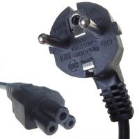 Connekt Gear Black European Schuko Plug Top to IEC C5 Cloverleaf Kettle TV Power Cord Cable