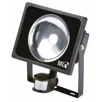 KnightsBridge Black LED Energy Saving Die-Cast Aluminium Floodlight With PIR Indoor Outdoor Lighting