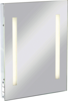 KnightsBridge Illuminated Decorative Rectangular Bathroom Wall Mirror IP44 Rated with Shaver Socket