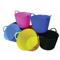 Rhino 40 Litre Heavy Duty Flexi Flexible Garden Container Storage Bucket Tub