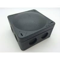 Combi 308/5 32A Black IP66 Weatherproof Junction Adaptable Box Enclosure With 5 Way Connector by Wiska