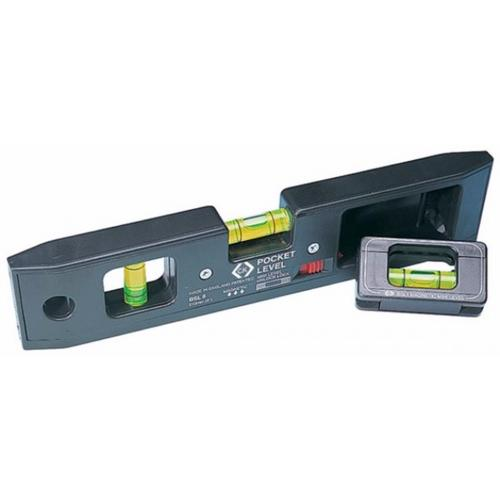 C.K Tools 210mm Magnetic Pocket Spirit Bubble Level with Detachable Mini Level  - Click to view a larger image