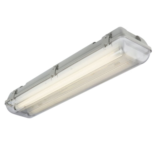 KnightsBridge 36W Twin 4 Foot IP65 240V Non-Corrosive Weatherproof Fluorescent Fitting