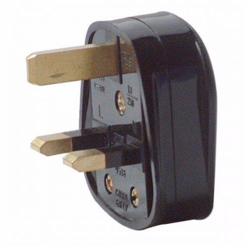 Zexum 13A Black Plastic Electrical Safety UK 3 Pin Plug Top  - Click to view a larger image