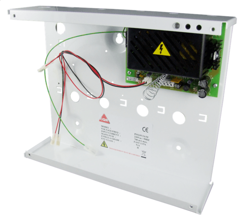CQR 3A 24V Medium Boxed Power Supply AC-DC PSU Single Indicator with Battery Backup  - Click to view a larger image