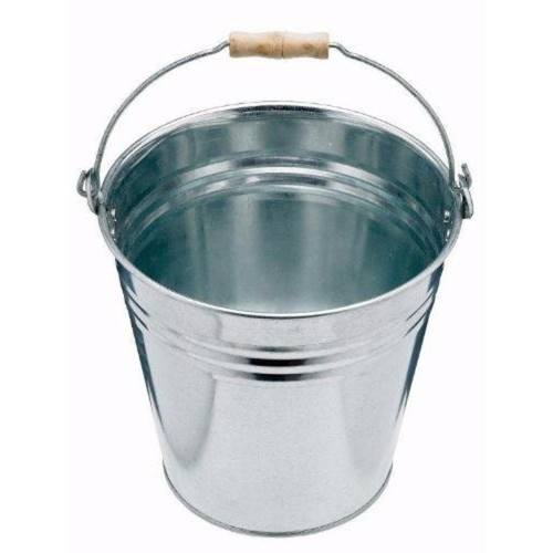 Harris 13 Litre Galvanised Steel Bucket Pail with Wooden Handle  - Click to view a larger image