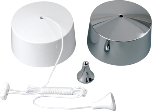 KnightsBridge Bathroom Ceiling Pull Cord Dimmer Switch 50W/250W  - Click to view a larger image