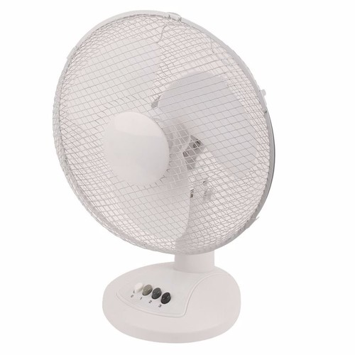 Review zexum white 12 inch portable oscillating cooling for 12 inch table fan