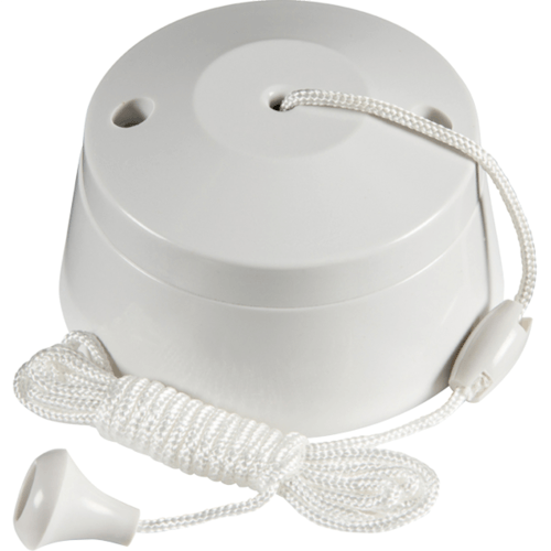 KnightsBridge 6 Amp One Way Bathroom Ceiling Light Pull Cord Switch  - Click to view a larger image