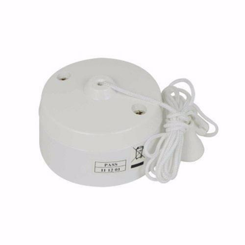 Zexum 6 Amp Two Way Bathroom Ceiling Light Pullcord Switch  - Click to view a larger image