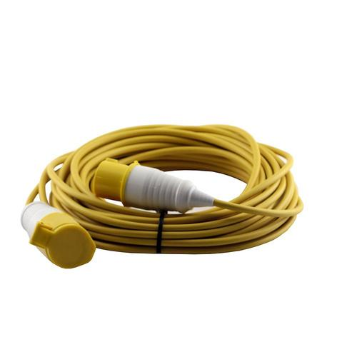 Zexum 16A 110V Yellow Arctic Male to Female Electric Mains Hook Up Extension Cable Lead