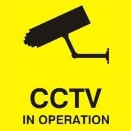 Zexum 100mm X 100mm Security Camera CCTV Warning Caution Sticker Sign
