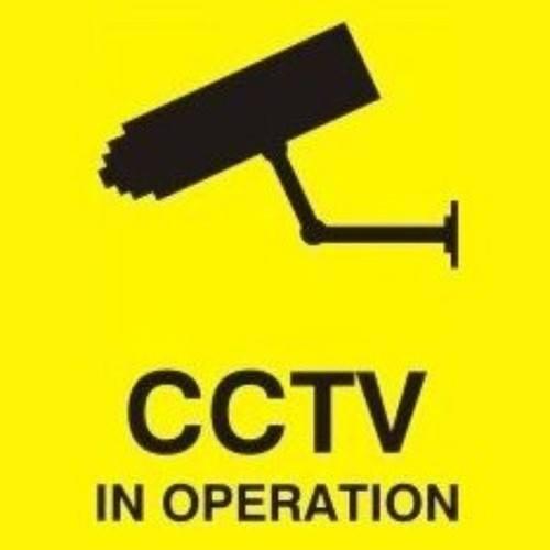 Zexum 100mm X 100mm Security Camera CCTV Warning Caution Sticker Sign