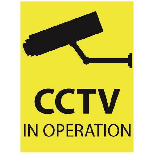 Zexum 100mm X 75mm Security Camera CCTV Warning Caution Sticker  - Click to view a larger image