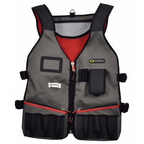 C.K Magma Heavy Duty Technicians Tool Carrier Vest with 14 Pockets  - Click to view a larger image