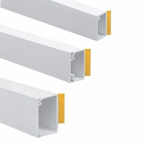 Zexum 38mm X 38mm Self Adhesive PVC Plastic Electrical Mini Trunking Cable Tidy  - Click to view a larger image