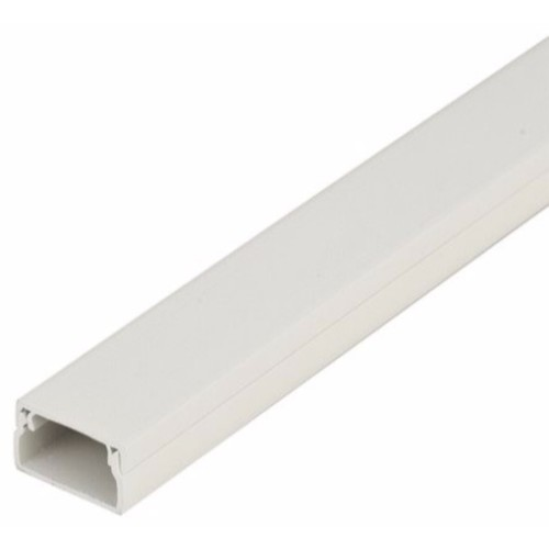 Zexum 38mm x 25mm Screw Fix Mini Trunking ZEXUM 38MM X 25MM SCREW FIX MINI TRUNKING - Click to view a larger image