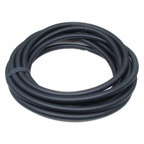 Termination Technology 25mm Black Flexible Electrical Corrugated Conduit Plastic PVC Pipe  - Click to view a larger image