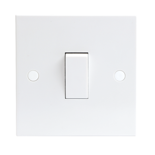 KnightsBridge 10A White 1G 2 Way 230V Electric Wall Plate Switch  - Click to view a larger image