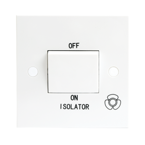 KnightsBridge 10A White 1G 3 Pole 230V Electric Fan Isolator Switch  - Click to view a larger image
