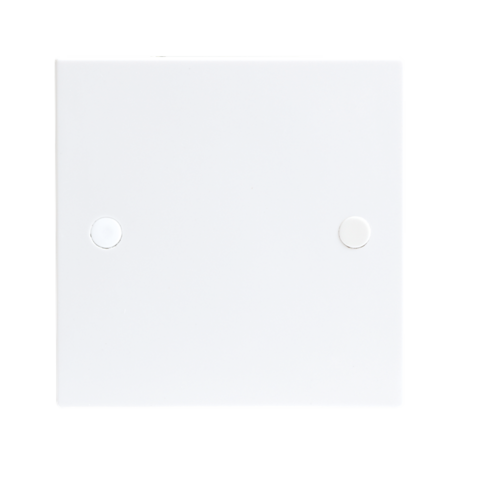 KnightsBridge White 1G Blanking Plate Electric Wall Switch Box  - Click to view a larger image