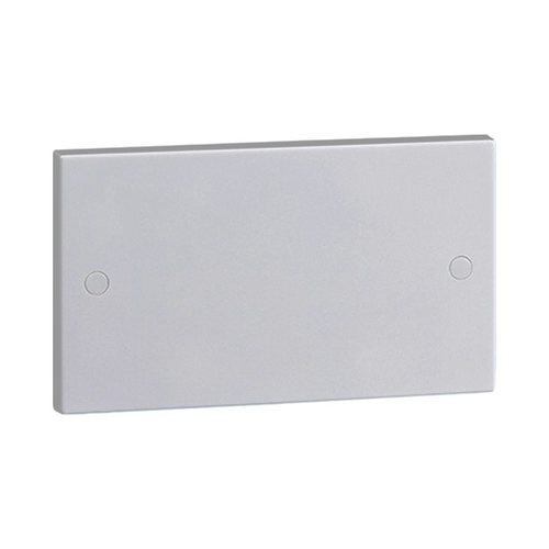 KnightsBridge White 2G Blanking Plate Electric Wall Switch Box  - Click to view a larger image