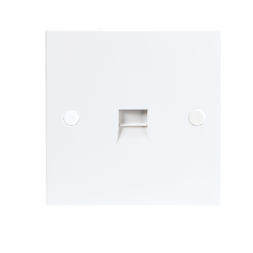 KnightsBridge 1G White Telephone Master Socket Flush Wall Switch  - Click to view a larger image