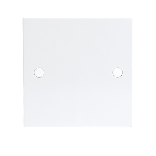 KnightsBridge 20A White Flex Outlet Single Frontplate Electric Wall Plate  - Click to view a larger image