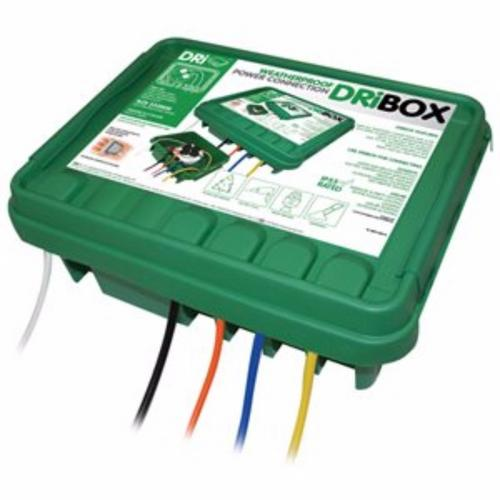 Compare prices for Dribox DB330G 330mm IP55 Weatherproof Connection Box - Green