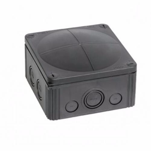 Wiska Combi 108/5 20A Black IP66 Weatherproof Junction Adaptable Box Enclosure With 5 Way Connector  - Click to view a larger image