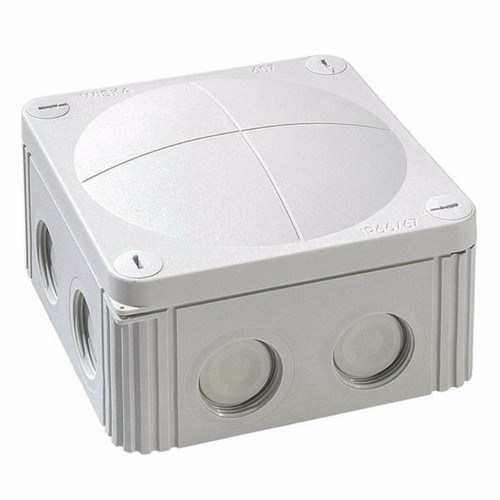 Wiska Combi 607/5 40A Grey IP66 Weatherproof Junction Adaptable Box Enclosure With 5 Way Connector  - Click to view a larger image