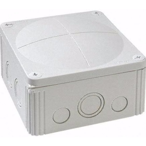 Wiska Combi 1010/5 57A Grey IP66 Weatherproof Junction Adaptable Box Enclosure With 5 Way Connector  - Click to view a larger image