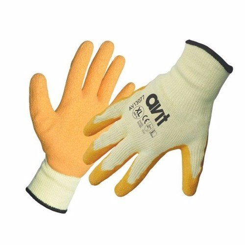 Image of Avit Latex Coated Gloves Safety Hand Protection - XL Size
