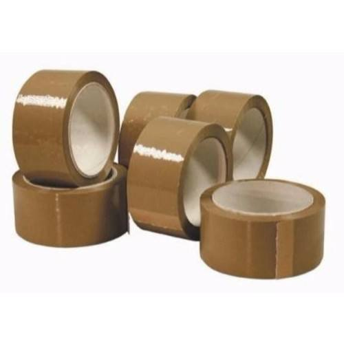 Zexum 50mm Brown 66m Packaging Wrapping Polypropylene Tape  - Click to view a larger image