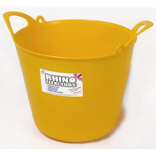 Compare prices for Rhino 26L Heavy Duty Flexi Flexible Garden Container Storage Bucket Tub - Yellow