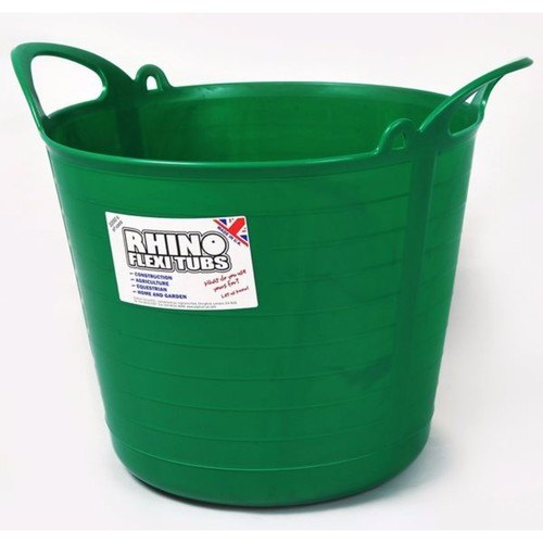 Compare prices for Rhino 26L Heavy Duty Flexi Flexible Garden Container Storage Bucket Tub - Green