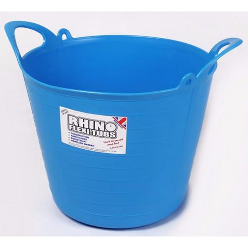 Compare prices for Rhino 26L Heavy Duty Flexi Flexible Garden Container Storage Bucket Tub - Blue
