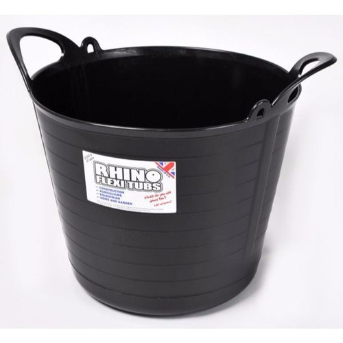 Compare prices for Rhino 26L Heavy Duty Flexi Flexible Garden Container Storage Bucket Tub - Black