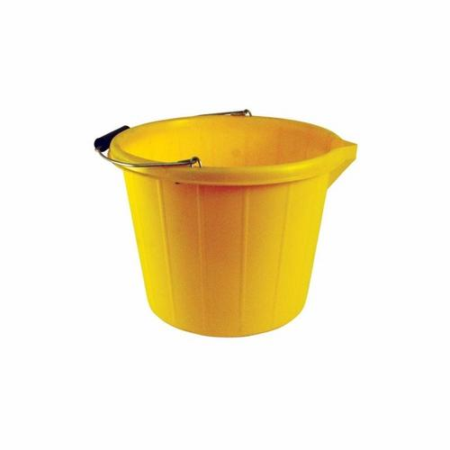 Stadium 14L 3 Gallon Heavy Duty Yellow Builders Bucket Storage Container  - Click to view a larger image