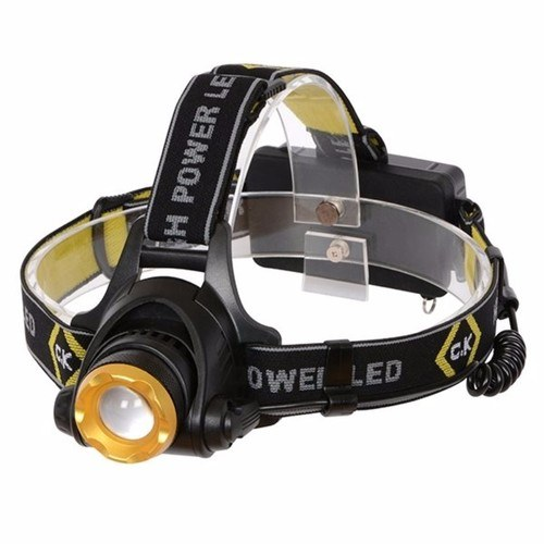C.K Tools Rechargable 200 Lumen Bright IP64 Rated Large LED Head Lamp Torch Flashlight  - Click to view a larger image