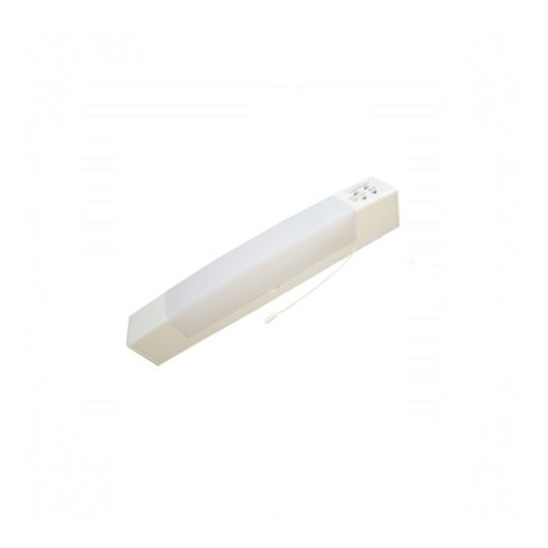 Eterna White Dual Voltage IP44 Bathroom Shaver Light with Shaver Socket 110v/240v  - Click to view a larger image