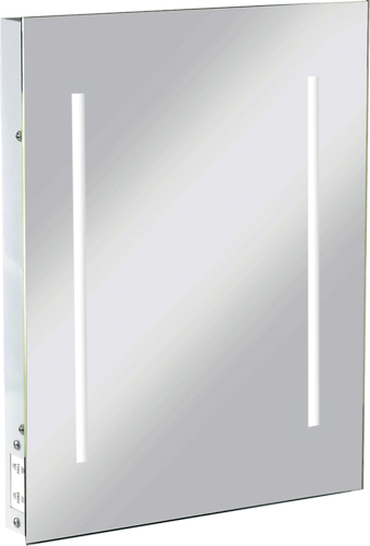 KnightsBridge LED Illuminated Bathroom Wall Mirror IP44 & Shaver Socket  - Click to view a larger image