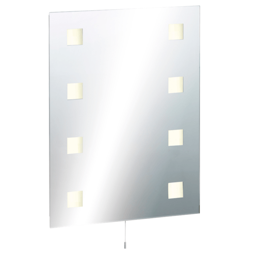 KnightsBridge Illuminated Decorative Rectangular Bathroom Wall Mirror IP44 Rated  - Click to view a larger image