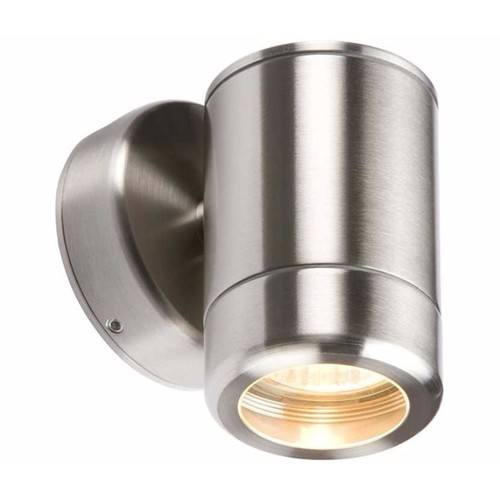 KnightsBridge Fixed IP65 Stainless Steel Indoor Outdoor Single Wall Light