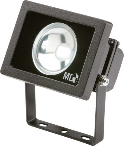 KnightsBridge IP65 Adjustable Low Energy LED Security Flood Light Black Aluminium.  - Click to view a larger image